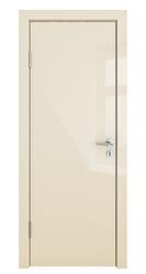 Межкомнатная дверь Дверная Линия ДГ 500 ваниль глянец