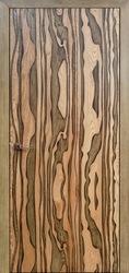 Межкомнатная дверь Мадера Aqua натуральный дуб+мох черная патина
