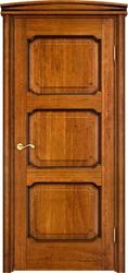 Межкомнатная дверь Итальянская легенда Дуб Д7/3 Медовый с патиной
