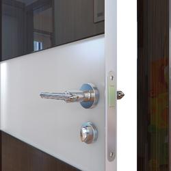 Межкомнатная дверь Дверная Линия ДО-501 Венге глянец стекло белое матовое (снег)
