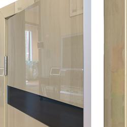 Межкомнатная дверь Дверная Линия ДО-502 Анегри светлый стекло чёрное