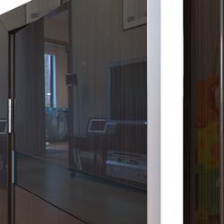 Межкомнатная дверь Дверная Линия ДО-502 Венге глянец стекло чёрное