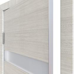 Межкомнатная дверь Дверная Линия ДО-502 Ива светлая стекло белое матовое (снег)