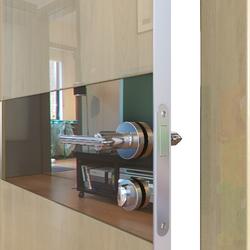 Межкомнатная дверь Дверная Линия ДО-509 Анегри светлый зеркало бронза