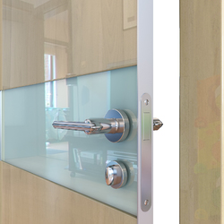 Межкомнатная дверь Дверная Линия ДО-509 Анегри светлый стекло белое матовое