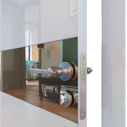 Межкомнатная дверь Дверная Линия ДО-509 Белый глянец зеркало бронза