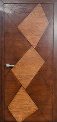 Межкомнатная дверь Мадера Romb коньяк+патина орех