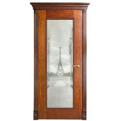 Межкомнатная дверь Оникс Александрия-1 со стеклом