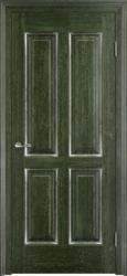 Межкомнатная дверь Итальянская легенда Дуб Д15 Малахит патина Серебро с микрано