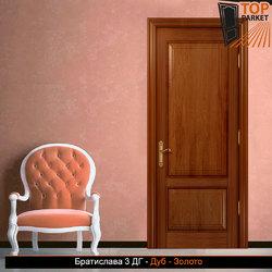 Межкомнатная дверь из массива дуба Братислава 3 ДГ