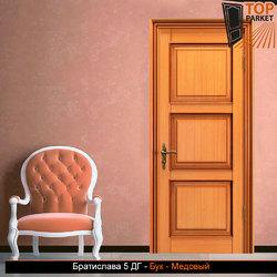 Межкомнатная дверь из массива бука Братислава 5 ДГ