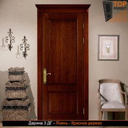 Межкомнатная дверь из массива ясеня Дарина 3 ДГ
