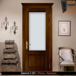 Межкомнатная дверь из массива ясеня Дарина 3 ДО