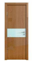 Межкомнатная дверь Дверная Линия ДО-501 Анегри тёмный стекло белое матовое