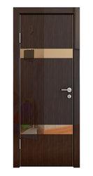 Межкомнатная дверь Дверная Линия ДО-502 Венге глянец зеркало бронза