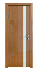 Межкомнатная дверь Дверная Линия ДО-507 Анегри тёмный стекло белое