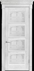 Межкомнатная дверь Альверо ДО Елизавета 6, Белое Серебро