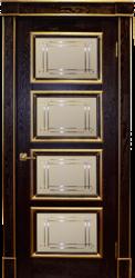 Межкомнатная дверь Альверо ДО Елизавета 6, Гранат Золото