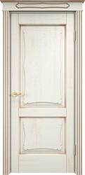 Межкомнатная дверь Итальянская легенда Дуб Д6/2 Эмаль F120+патина золото