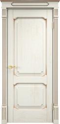 Межкомнатная дверь Итальянская легенда Дуб Д7/2 Эмаль F120+патина золото
