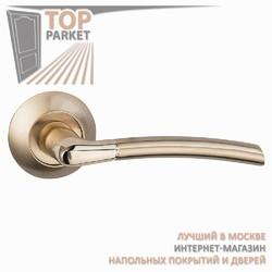 Ручка дверная на круглой накладке Fino A-13-10 Матовое золото