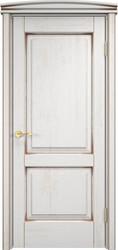 Межкомнатная дверь Итальянская легенда Дуб Д13 Белый грунт+патина орех