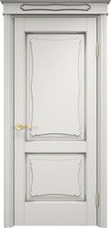 Межкомнатная дверь Итальянская легенда Ольха 6.2 Грунт+патина серебро микрано
