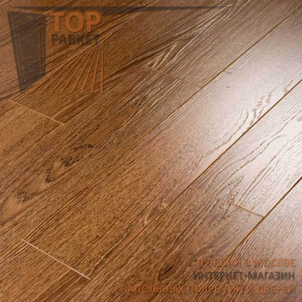 Ламинат Ecoflooring Brush Wood Дуб Шоколад 33 класс 12 мм (1215х128)