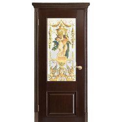 Межкомнатная дверь Оникс Марсель с художественным стеклом