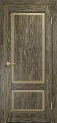 Межкомнатная дверь Мадера  Винтаж 13 Браш Мох чёрная патина