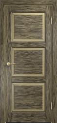 Межкомнатная дверь Мадера  Винтаж 17 Браш Мох чёрная патина