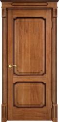 Межкомнатная дверь Итальянская легенда Дуб Д7/2 Орех 10% + патина