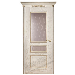 Межкомнатная дверь Оникс Версаль с декором
