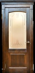 Межкомнатная дверь Альверо ДО Виктория, Орех черная патина браш