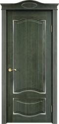 Межкомнатная дверь Итальянская легенда Ольха 33 Зеленый+патина серебро микрано