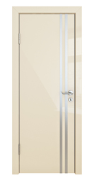 Межкомнатная дверь Дверная Линия ДГ-506 ваниль глянец