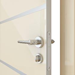 Межкомнатная дверь Дверная Линия ДГ 505 Ваниль глянец