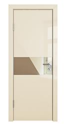 Межкомнатная дверь Дверная Линия ДО 501 ваниль глянец, зеркало бронза