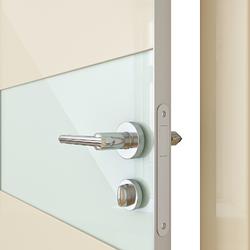 Межкомнатная дверь Дверная Линия ДО 501 ваниль глянец, стекло белое