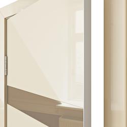 Межкомнатная дверь Дверная Линия ДО 502 ваниль глянец, зеркало бронза