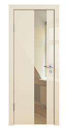 Межкомнатная дверь Дверная Линия ДО 504 ваниль глянец зеркало бронза