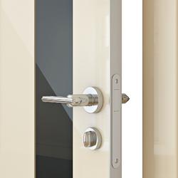 Межкомнатная дверь Дверная Линия ДО 504 ваниль глянец стекло черное