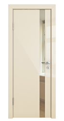Межкомнатная дверь Дверная Линия ДО 507 ваниль глянец зеркало бронза