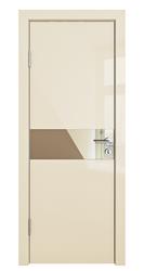 Межкомнатная дверь Дверная Линия ДО 509 ваниль глянец, зеркало бронза