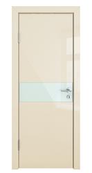 Межкомнатная дверь Дверная Линия ДО 509 ваниль глянец, стекло белое
