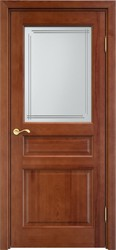 Дверь остеклённая 5 Ш Коньяк
