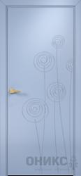 Дверь Концепт №11 эмаль голубая