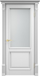 Дверь 112 Ш Багет Белая эмаль