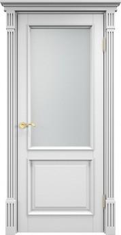 Дверь остеклённая 112 Ш Багет Белая эмаль