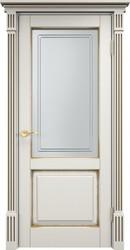 Дверь остеклённая 112 Ш  Слоновая кость патина